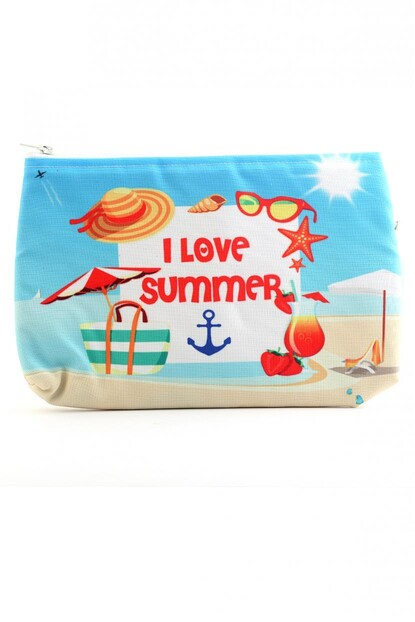 I LOVE SUMMER BASKILI CLUTCH