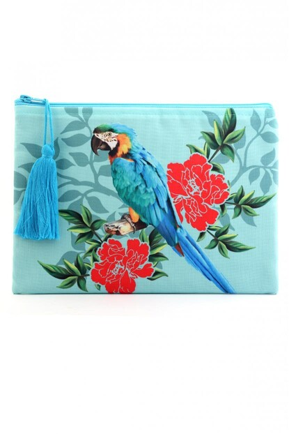 PAPAĞAN BASKILI CLUTCH
